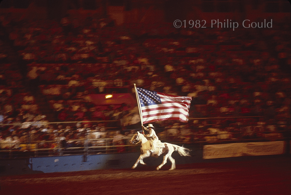 Rodeo Rider, American flag, Louisiana State Fair, Shreveport